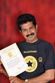 Bapi Raju-Alphabet Art_World Record Holders Club of India
