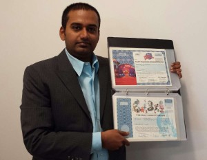 Golden-Book-of-World-Records-collection-Maximum-Number-of-antique-bonds-and-share-certificates-Mr.-Anjaiah-Vemuru-Hyderabad-Andhra-Pradesh-India
