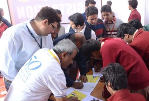 Golden Book of World Records-most people signing a pledge for allegiance to the national flag in 8 hours-St Paul Indore Alumni Association-Indore, MP, India-GBWR