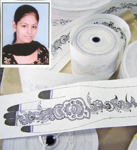 Longest mehndi design roll 19