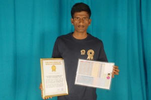 Golden Book of World Records-calendar calculating days of 50,000 years-Shreyas Raju R G-Chickballapura-Karnataka-India