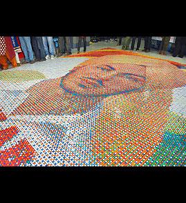 Largest Rubik Cube portrait