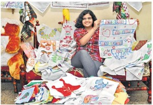 Golden-Book-of-World-Records-largest collection of hand-made handkerchiefs-Aditi Deshpande- Raipur-Chhattisgarh-India-F_gbwr
