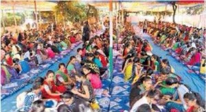 Golden Book of World Records-most people applying henna art-PP Savani Group- Maheshbhai Vallabhbhai Savani-Surat, Gujarat, India-F