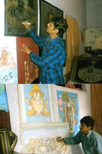 Golden-Book-of-World-Records-unique paintings made by mantra-Sanjay Lashkari-Ujjain-Madhya Pradesh-India_gbwr