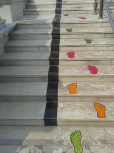 Golden-Book-of-World-Record-_longest line of foot prints-Shri Uwasaggaharam Parshwa Tirth-Nagpura-Durg-Chhattisgarh-India-F_gbwr