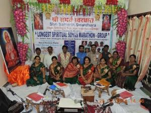Golden-Book-of-World-Records-longest spiritual songs marathon-group-Shri Samarth Swardhara-Ms. Ragini Kute-Dhamtari-Chhattisgarh-India_gbwr