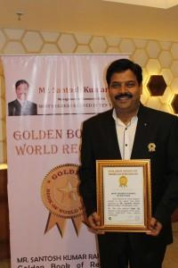 Golden Book of World Records-most degrees earned  in ten years-Santosh Kumar Rai-Bhilai, Chhattisgarh, India_gbwr