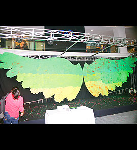 Nanhe Kadam Largest joint art installation by children Malad (W), Mumbai, India. wrhc