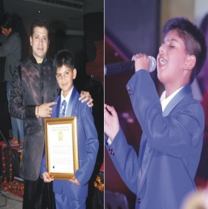 Golden Book of World Record youngest professional singer Master Satyam Upadhyay Gurgaon  Haryana India GBWR