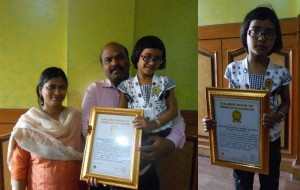 Golden Book of World Record youngest to recite scientific names of most number of plants incessantly Baby Shreejita Das Nayagarh Odisha India. gbwr.