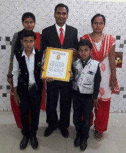 Golden book of World Record longest time head stand yoga Mr. Rakesh Chandra Singh Patel Kanpur Uttar Pradesh India.gbwr